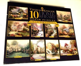 Ceaco Thomas Kinkade 10 Home & Heart Jigsaw Puzzles Collectors Edition 2005 New - $39.59
