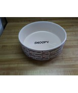 Ceramic Snoopy feeding dish Suppertime! - $9.49