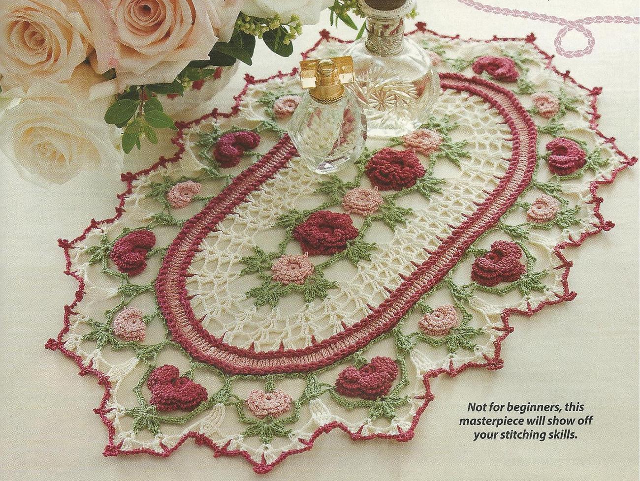 Rose parade doily thread crochet and 50 similar items crochet pattern 1115 dt1010fo