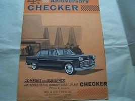1963 Checker Sales Brochure Owners Parts Service original used original - $19.99