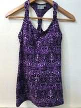 Athleta women's tank top Shelf Bra yoga tennis running Size XXS Purple P... - $18.95