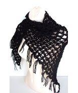 Fantasy Shawl Black /Scarf/Wrap/Cape/Capelet/poncho/Victorian/Lace/Crochet/ - $19.50