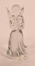 "Lefton Clear Lead Crystal Angel Figurine Praying Vintage 5 1/2"" Tall - $39.60"
