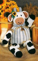 W451 Crochet PATTERN ONLY Bessie the Cow Toy Doll Pattern - $7.50