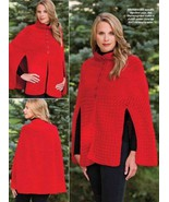 W457 Crochet PATTERN ONLY Ladies Out on the Town Cape Pattern to 2XL - $8.45