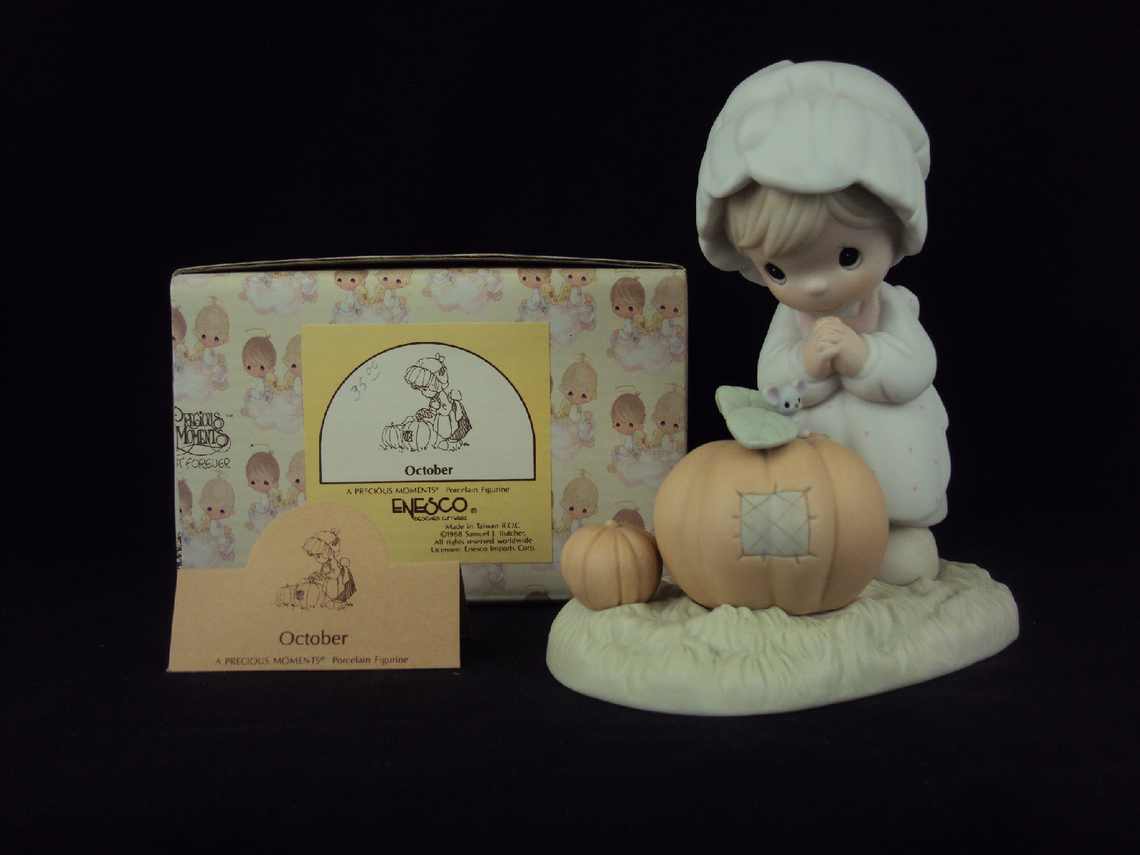 Primary image for Precious Moments Figurine, #110094, October, Flower Mark, 1986
