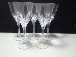5 CRISTAL d'ARQUES CASTEL TALL WATER / WINE GOBLETS~~ - $34.99