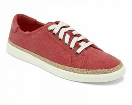 VIONIC Orthaheel Women's Sunny Hattie RED Lace-Up Canvas Sneakers NEW Retail $89 - $63.86