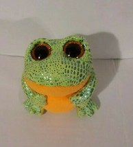 Ty beanie baby Speckles 2014 / Green shimmery and soft orange frog plush  - $7.70