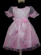 New Party Flower Girl Pageant Dress Pink,Pale Yellow,White from 6 to 24 ... - $18.50