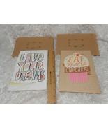 New lot 2 Hallmark Canvas hanging Cards w/ cardboard envelopes RARE Cupc... - $8.42
