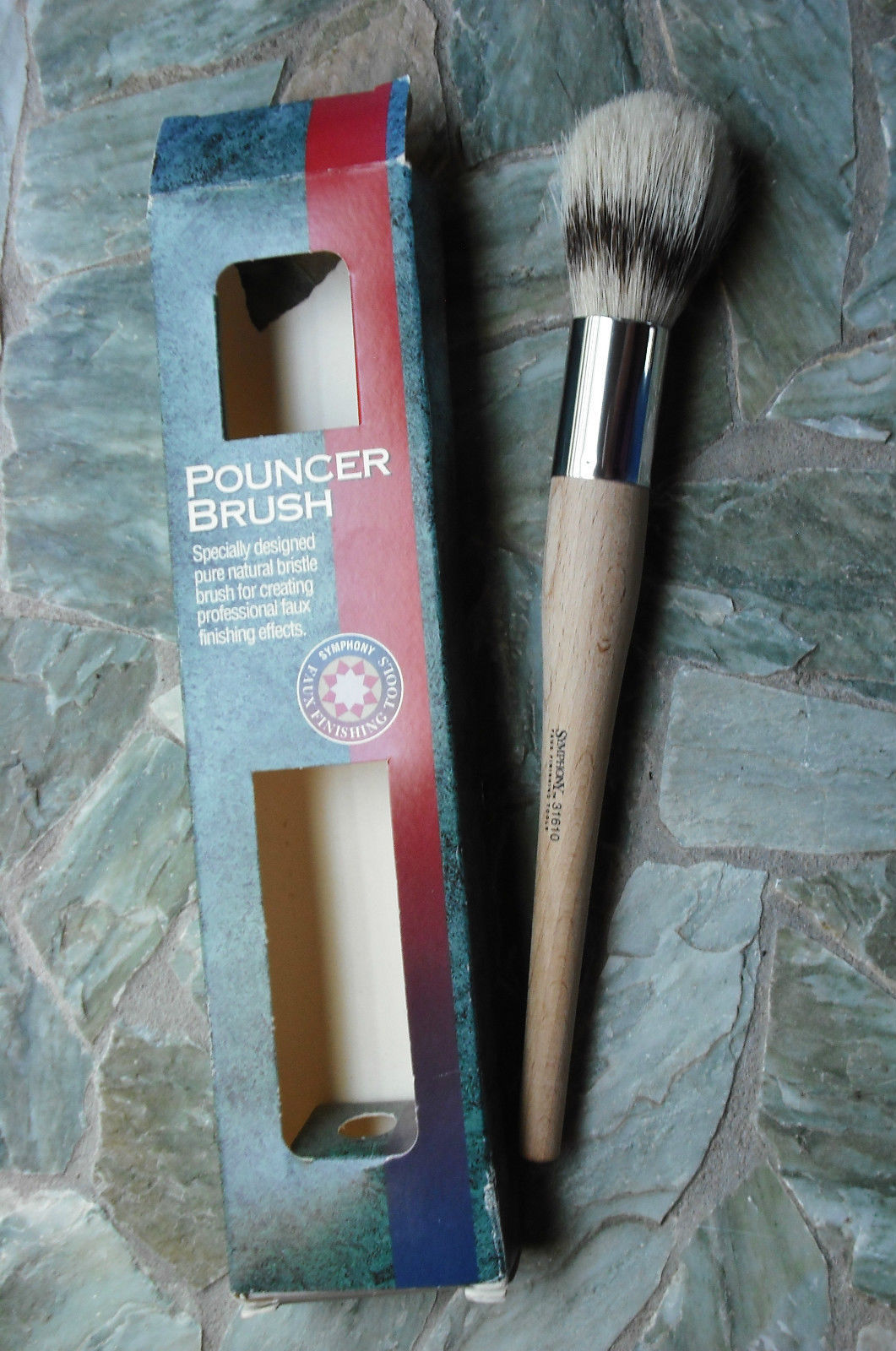 Symphony 31610 pouncer brush natural bristle faux for Faux painting brushes