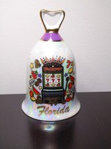 Vintage Florida With Slot Machine And Pearl Finish Souvenir Bell - $14.99