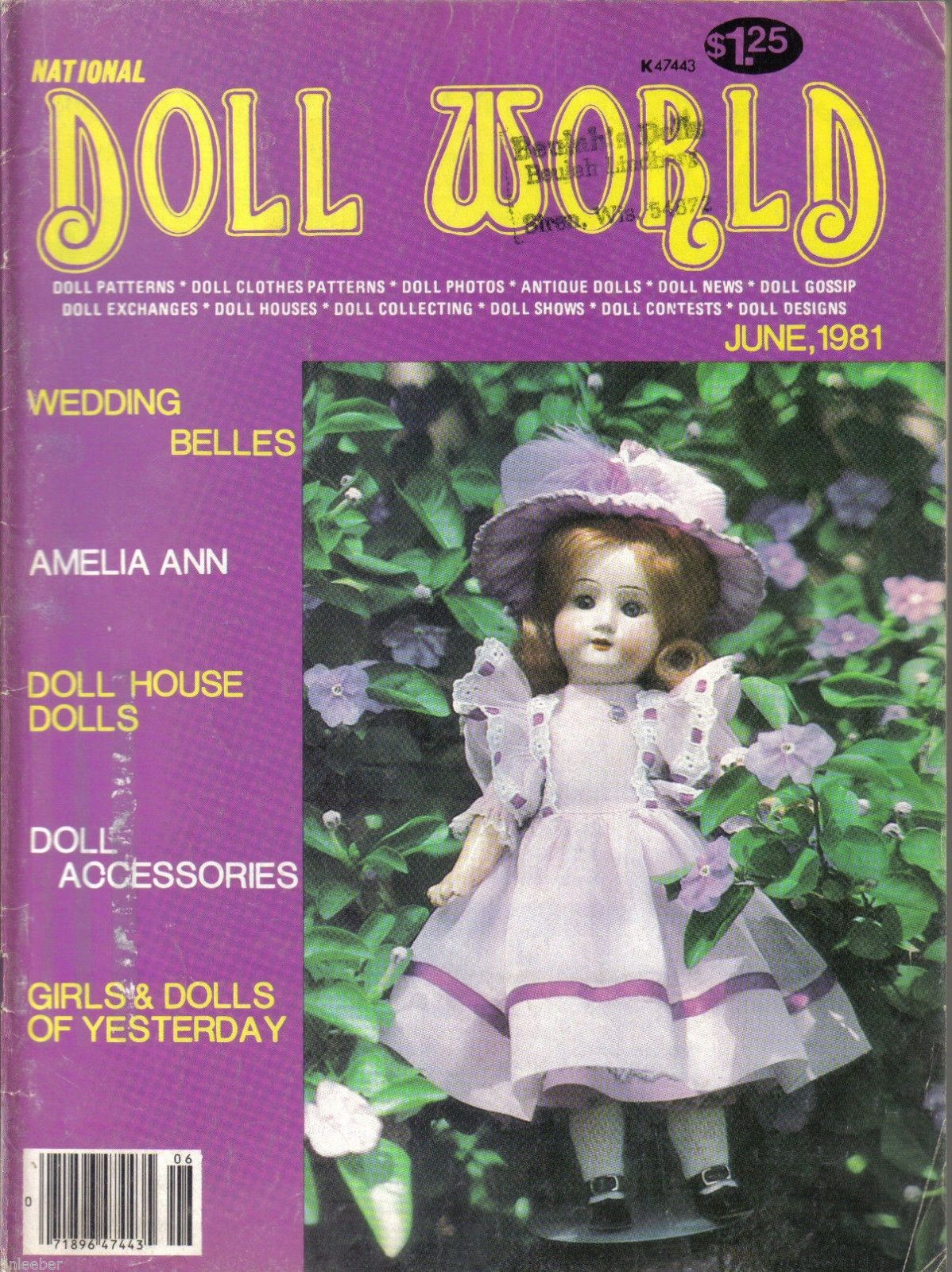 Primary image for National Doll World Magazine May/ June 1981-Wedding Belles;Amelia Ann;Doll House