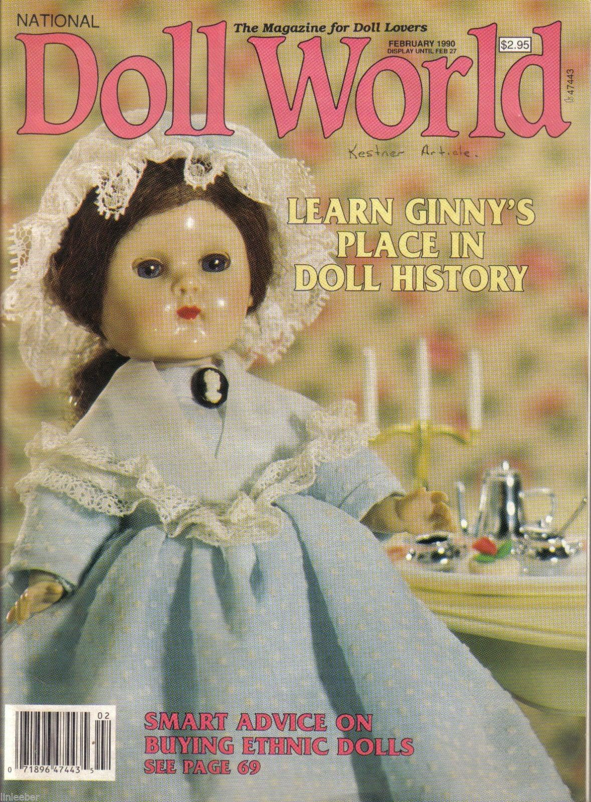 Primary image for National Doll World Magazine January/February 1990;Learn Ginny's Place In Doll H