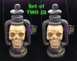 Strobe Light SKULL LANTERNS LAMPS Gothic Haunted House Props Decorations... - $59.37