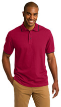 Port Authority K454 Tipped Polo Shirt - Red/Jet Black - $24.38+