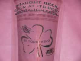 draught beer, beer at its best abdraught.com glass Anheuser-Busch BUD Bu... - $12.75