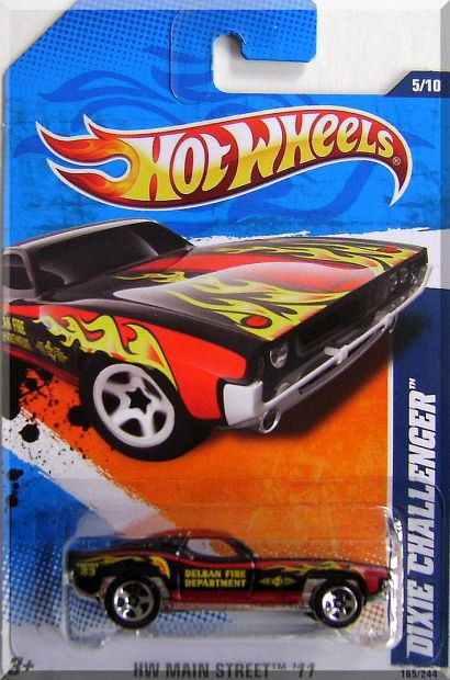Primary image for Hot Wheels - Dixie Challenger: HW Main Street '11 #5/10 - #165/244 (2011)