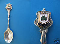 Primary image for PORTRUSH NORTHERN IRELAND Souvenir Collector Spoon Collectible IRISH SHAMROCK