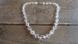 """Antique 18"""" Sterling Silver and Crystal Knotted Graduated Necklace - $89.09"""