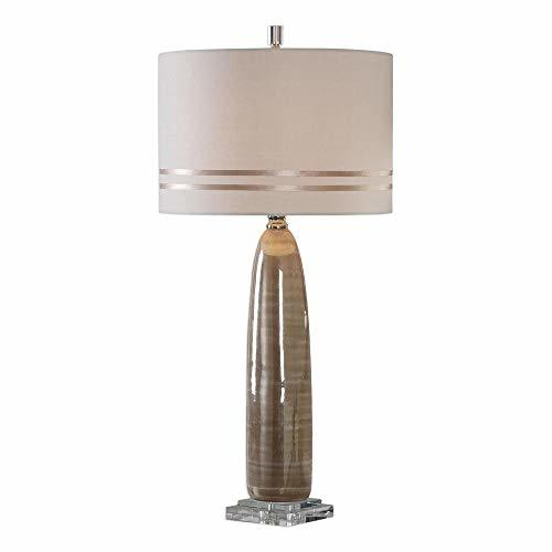 Uttermost Dima Pearlescent Glossy Brown Ceramic Table Lamp image 2
