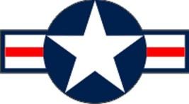Official USAF U.S. Aircraft Star 1947-Present Dark Blue Decal - $11.87
