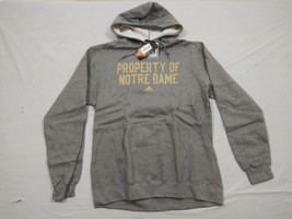 M153 New NWT ADIDAS Property Of Notre Dame Gray Hooded Sweatshirt Hoodie... - $34.95