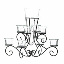 Accent Plus For Stunning Scrollwork Candle Centerpiece With Vase - $38.00