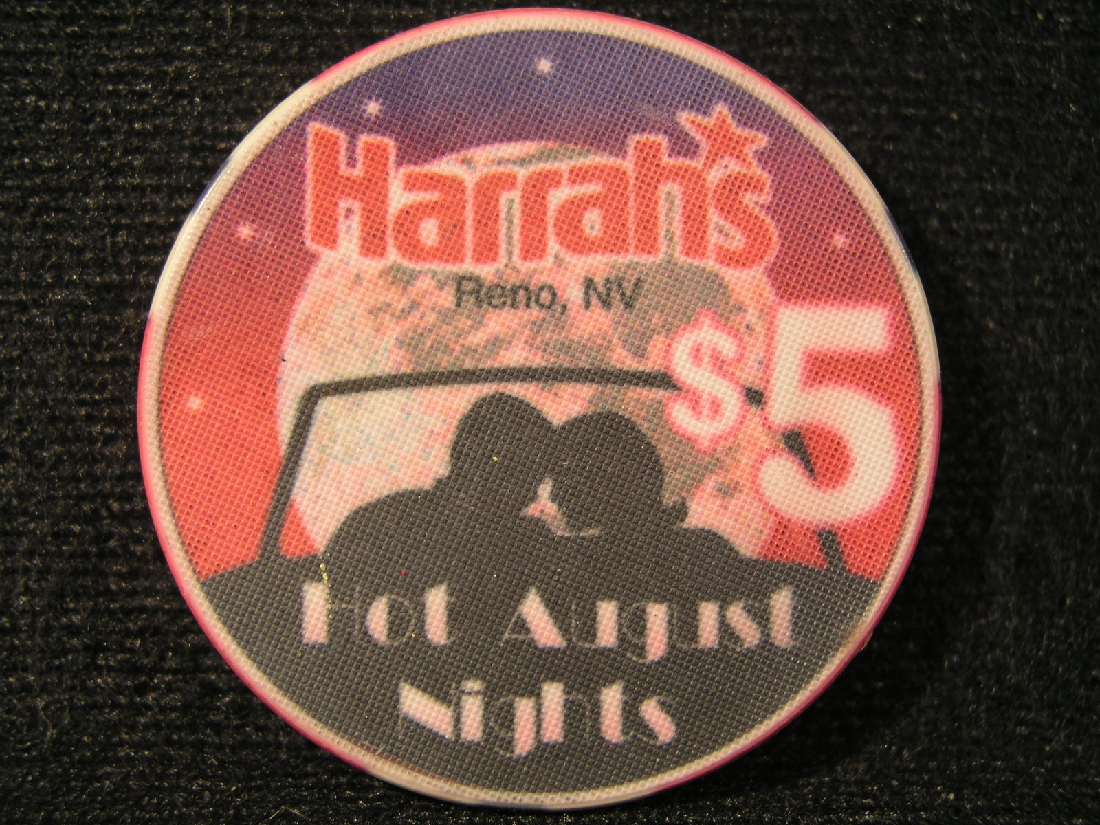 "Primary image for $5.00 CASINO CHIP FROM: ""HARRAH'S HOTEL & CASINO""-  (sku#2524)"