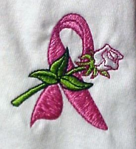 Primary image for Breast Cancer Pink Ribbon Rose White S/S T-Shirt XL New