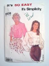 Simplicity 9838, Misses Blouse, Size 10, 12, 14... - $4.95