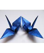 "100 large glittering / shiny blue origami cranes 6"" x 6"" - $30.00"