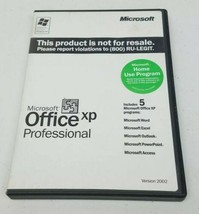 Microsoft Office XP Professional Version 2002 (1 License) Pre Owned  - $8.90