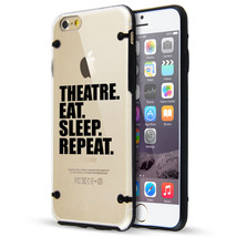 For iPhone SE 5s 6 6s 7 Plus Clear TPU Hard Case Cover Theatre Eat Sleep... - £11.41 GBP