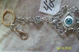 # purse jewelry Halloween Evil Eye keychain backpack filigree dangle charm #42 image 4