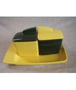 Franciscan El Patio Yellow Green Jam Jelly w/Lids Toast Tray Toastmaster - $33.99