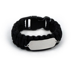 Paracord Travel ID Bracelet. Free engraving and... - $34.99