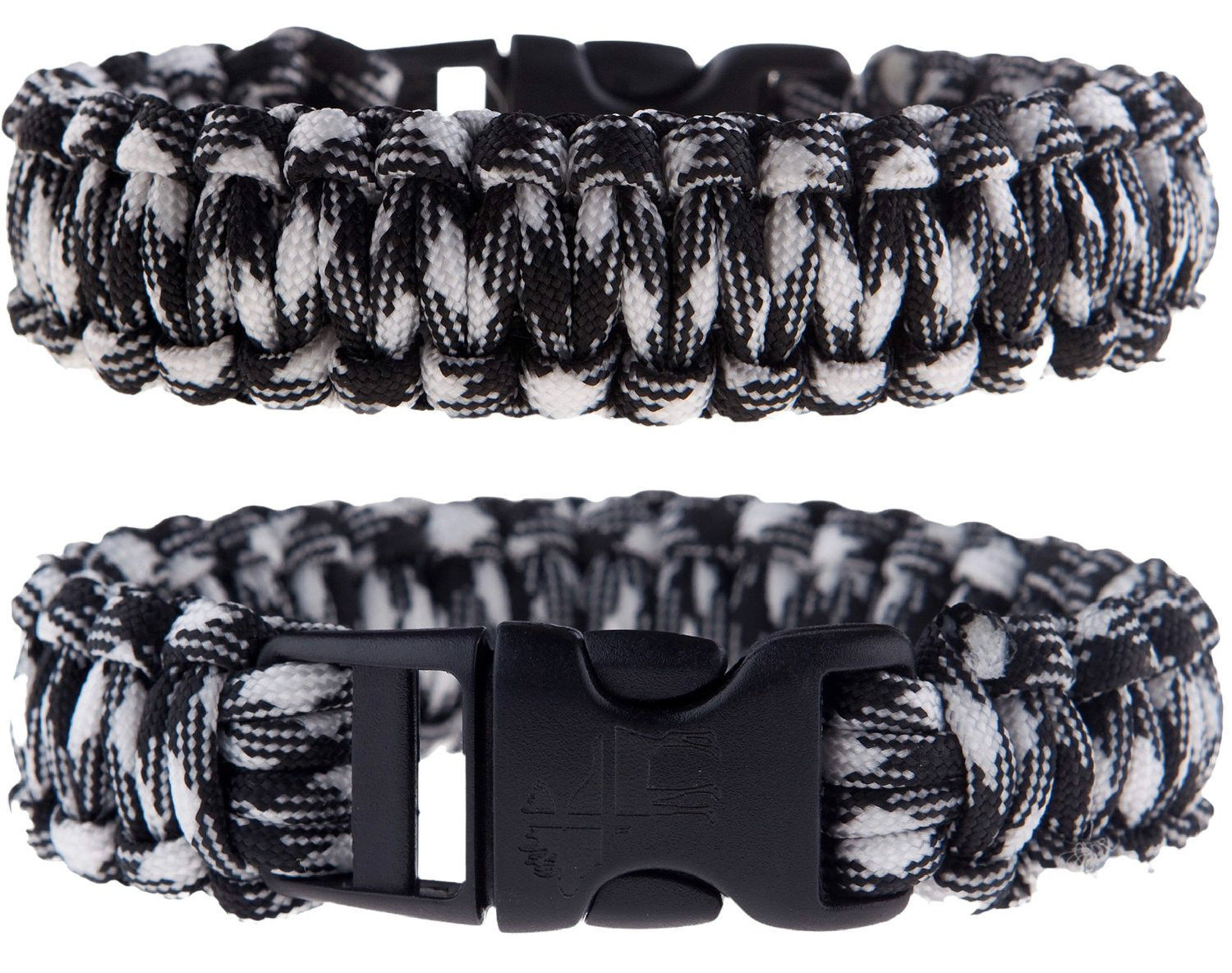 Primary image for Lot of 2 Paracord Survival Bracelets. Free medical wallet Card!