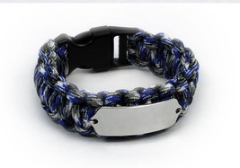 Paracord Travel ID Bracelet. Free engraving and Emergency wallet Card. - $34.99