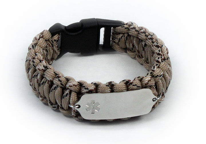 Primary image for Paracord Medical ID Survival Bracelet with Clear emblem Free medical wallet Card