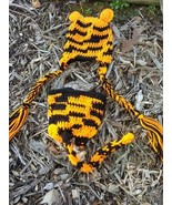 Hand crochet little bengal tiger beanie/cap/hat & diaper cover costume/p... - $25.00