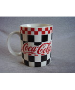 Gibson Coca Cola Dinnerware Mug Red Black Checker - $16.00
