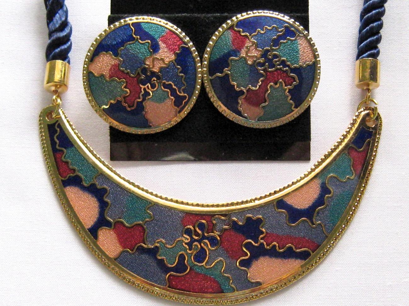 Blue earring   necklace set