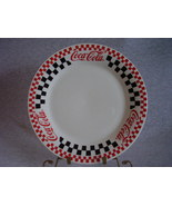 Gibson Dinnerware Coca Cola Dinner Plate Red Black Checkers - $21.00