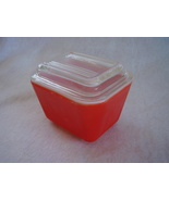 Vintage Pyrex Small Primary Red Refrigerator Di... - $20.99
