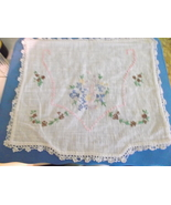 Embroidered Linen/Cotton Scarf-Vintage - $10.00