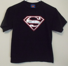 Boys DC Comics Superman Black Short Sleeve T Shirt Size M 8 to 10 - $5.95