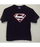 Boys DC Comics Superman Black Short Sleeve T Shirt Size M 8 to 10 - $5.95