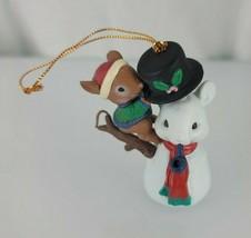 Lustre Fame Mice Mouse Xmas Ornament Build Building Mr Snowmouse Snowman... - $24.74